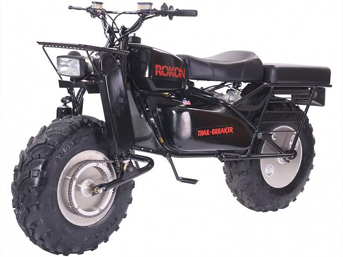 the Rokon Trail Breaker survival motorcycle