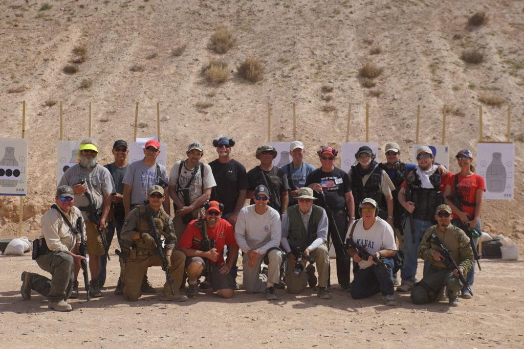 Men at shooting range