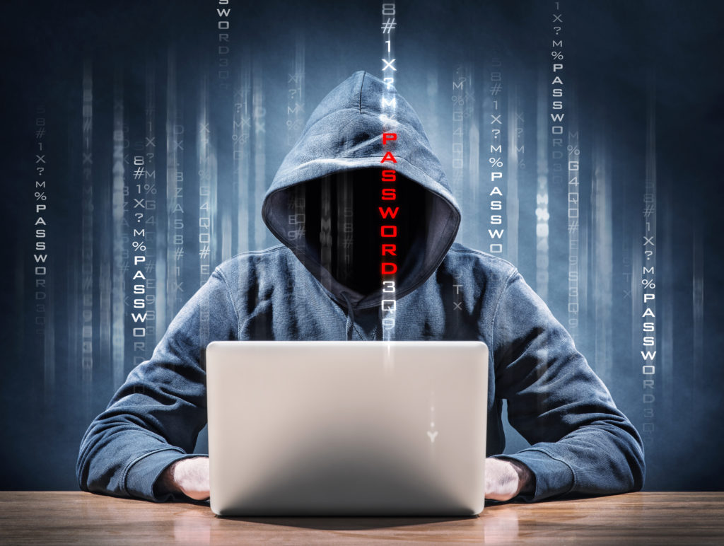Digital Hacker conducting Cyber Attack