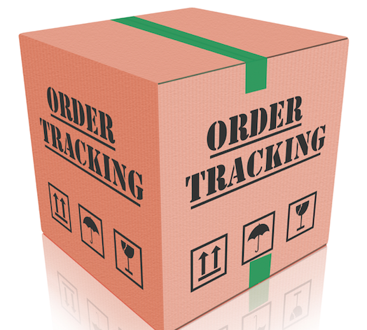 Box labeled Order Tracking