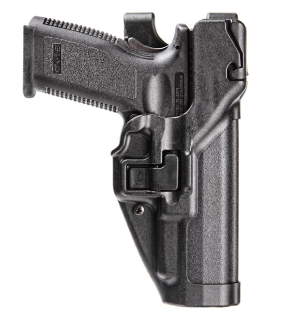 Blackhawk triple retention holster