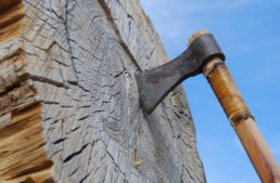 Axe throwing homeowner chops down intruder