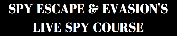 Spy Escape & Evasion's Live Spy Course Banner
