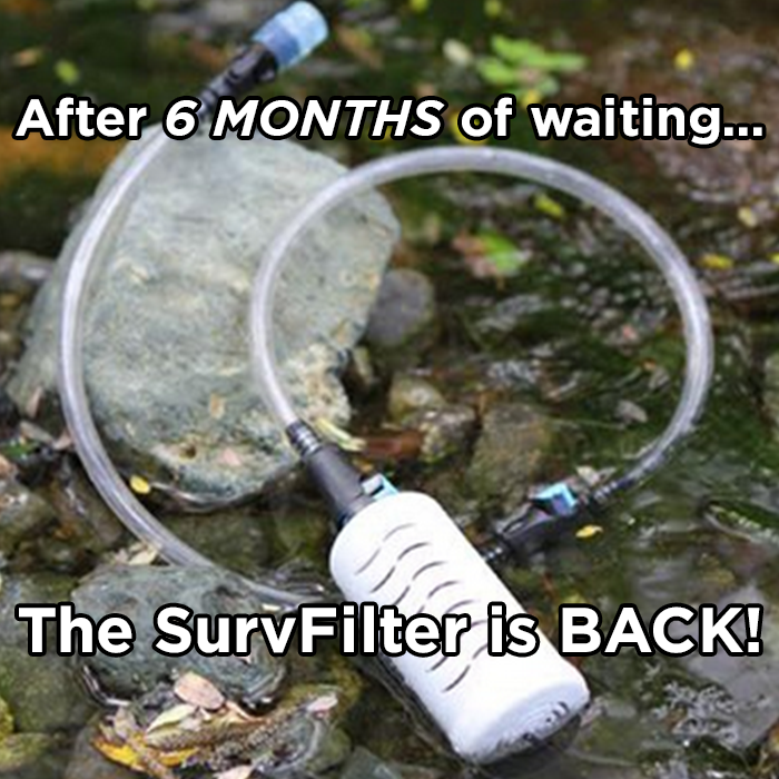 SurvFilter can turn almost any water into drinking water