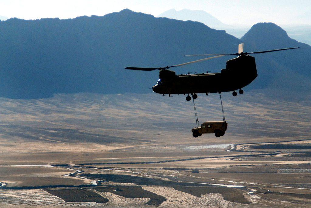 U.S. Army Humvee Sling Load in Afghanistan