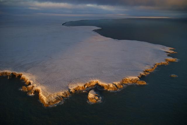 Wrangel Island at sunrise